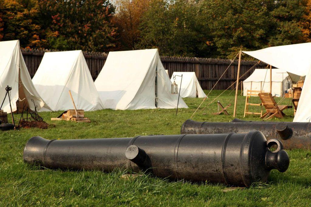 Reenactment camping