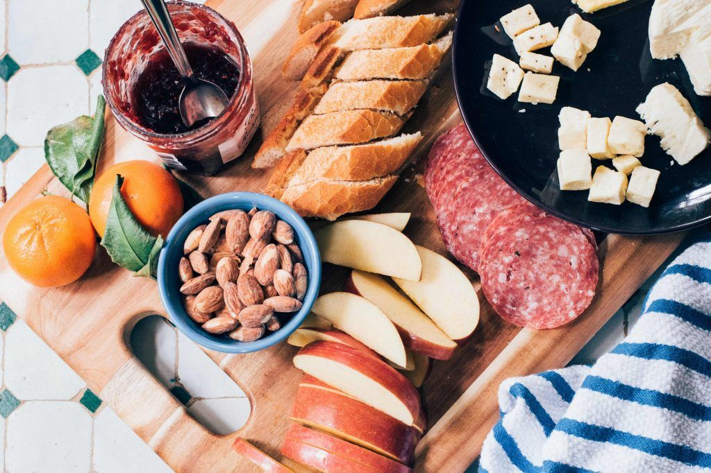 No-cook camping dinner ideas, cheeseboard