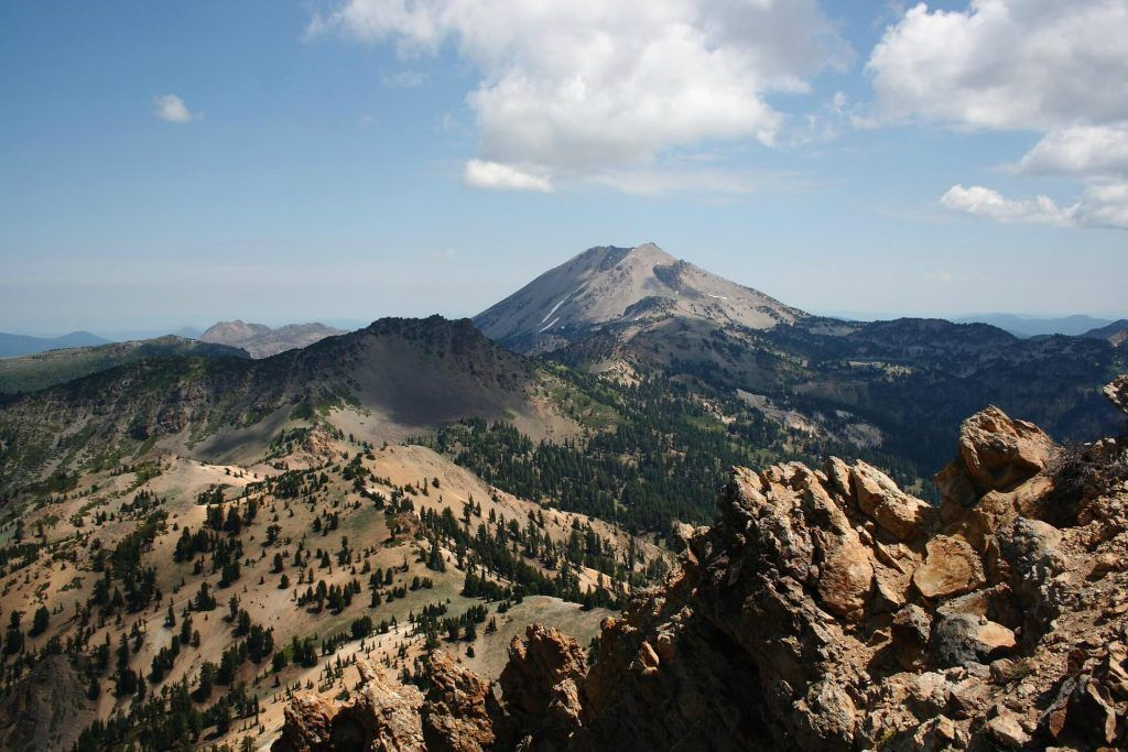 Lassen Peak from Brokeoff Mountain