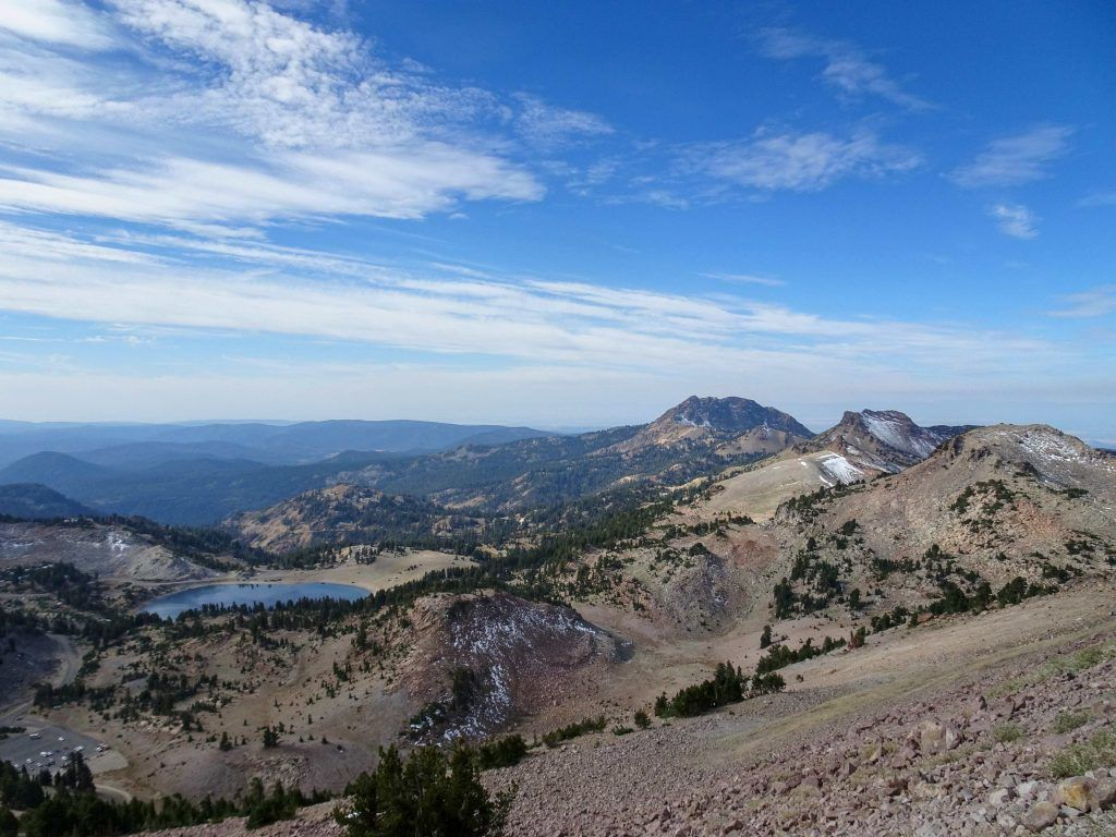 views from hiking Lassen Peak