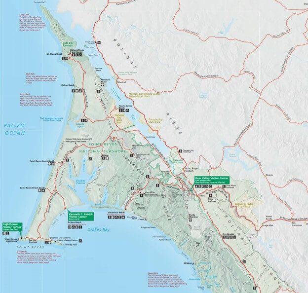 Point Reyes National Seashore Map