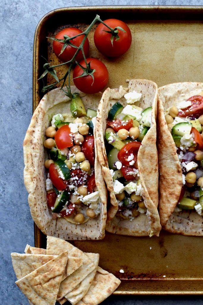 Vegetarian dinner camping ideas: veggie gyros
