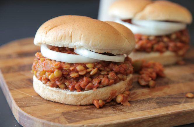 Vegetarian camping food dinner ideas: lentil burgers