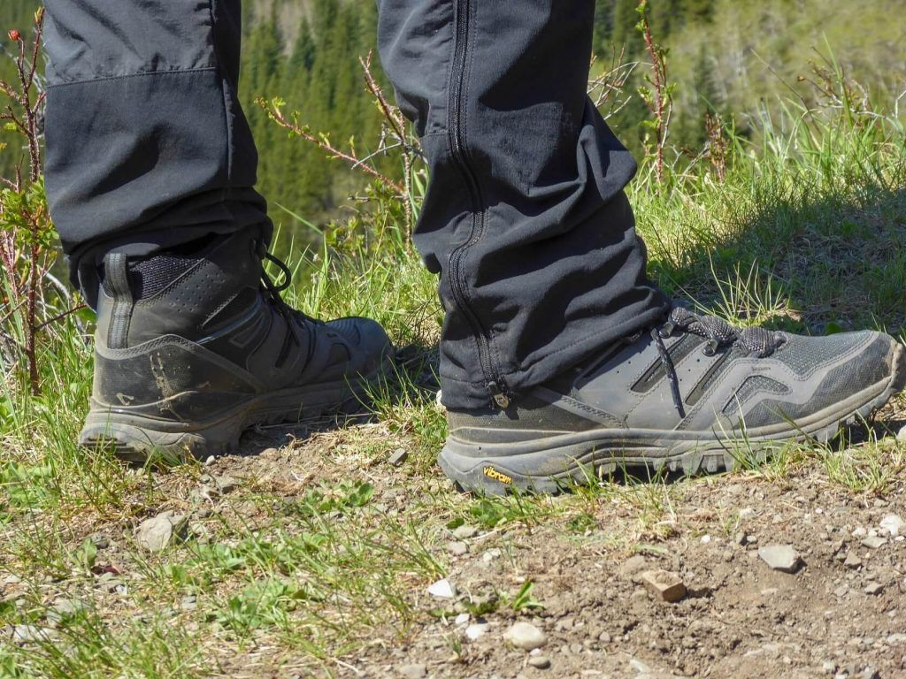 North Face Hedgehog Fastpack II Prairie boots upclose
