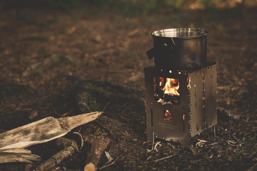 backpacking cooking gear - wood burning stove