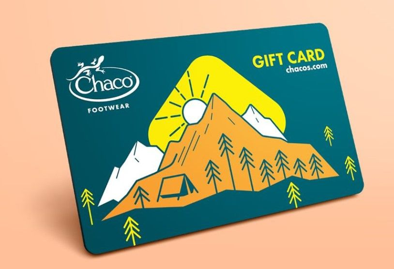 gifts for hikers-chaco gift card