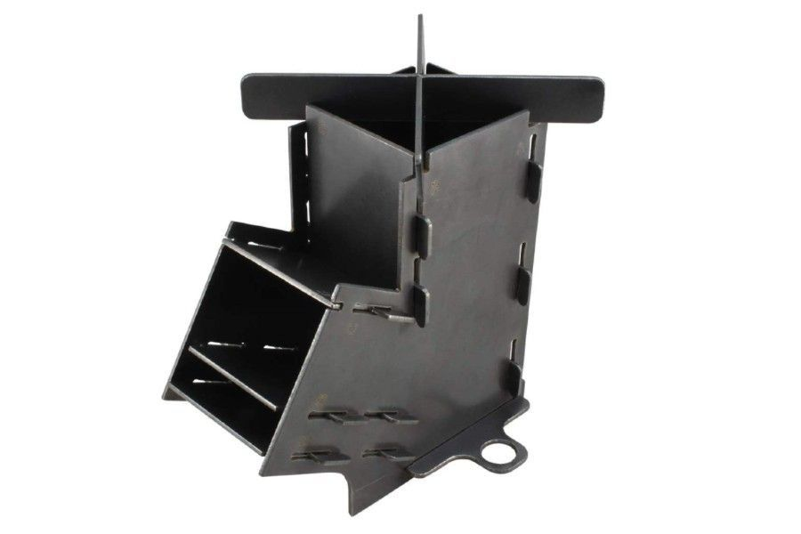 camping wood stoves - Marsh Kettles Flat Pack Rocket Stove