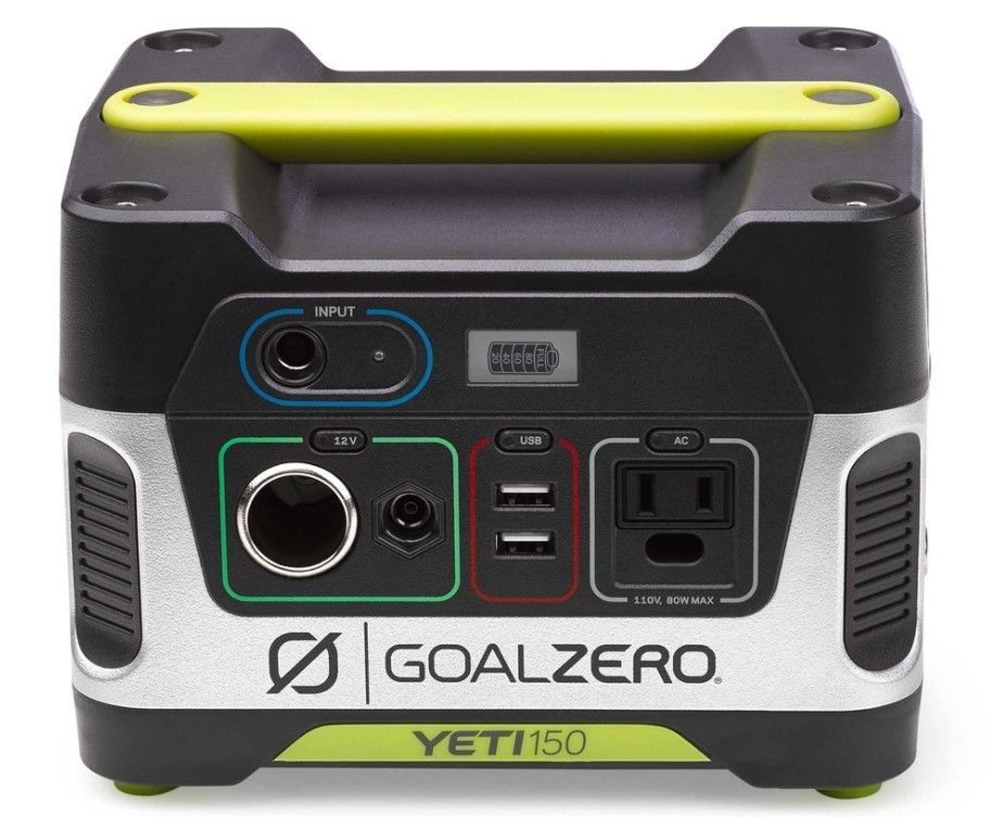 best portable power stations for camping-goal zero yeti 150 power station