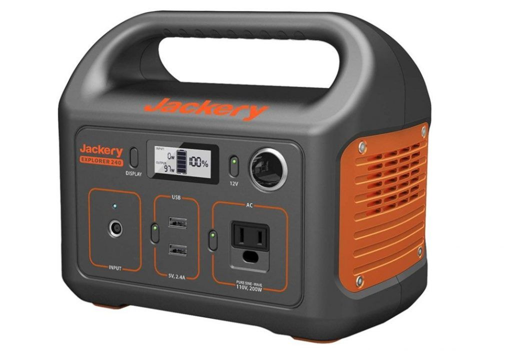 best portable power stations for camping-jackery portable power station 240