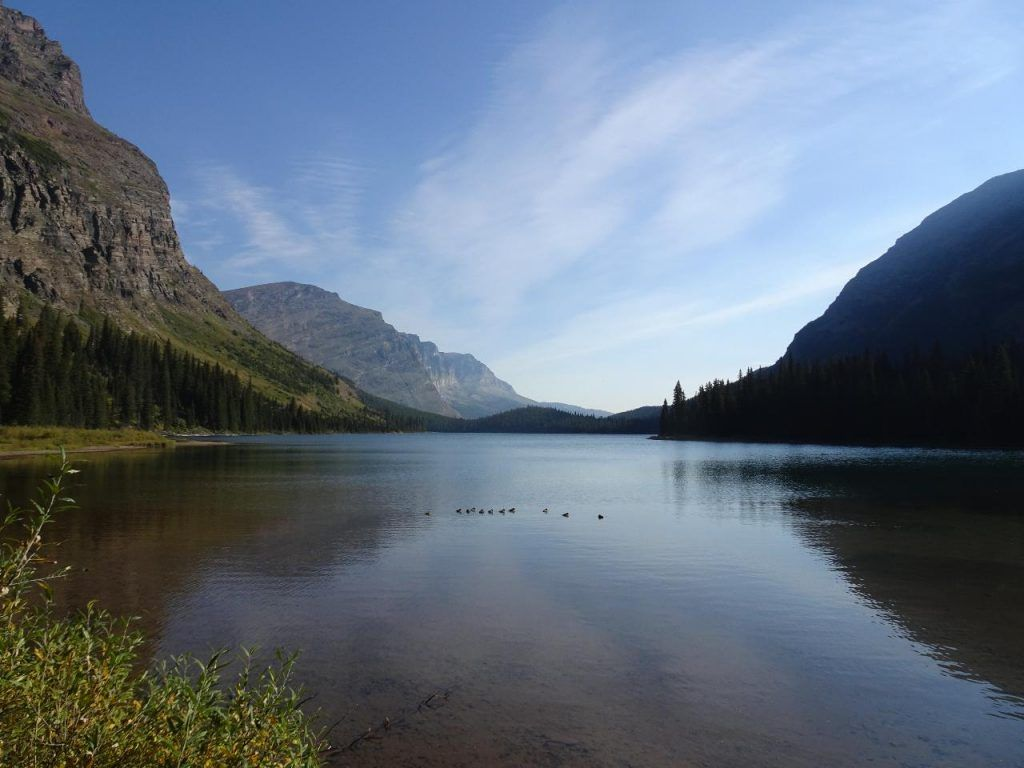Camping in Glacier National Park-swiftcurrent lake