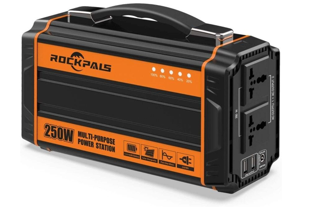 best portable power stations for camping-rockpals 250 portable power generator