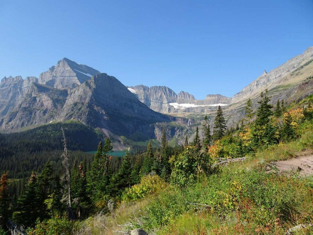 Camping in Glacier National Park-grinnell glacier from afar