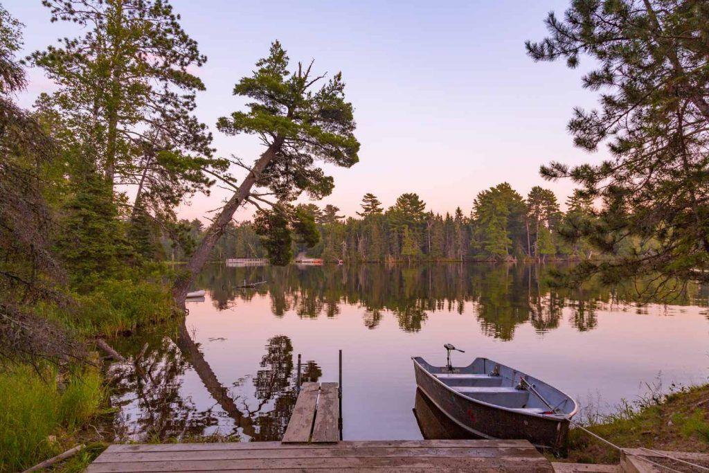 camping in minnesota-bear head lake state park