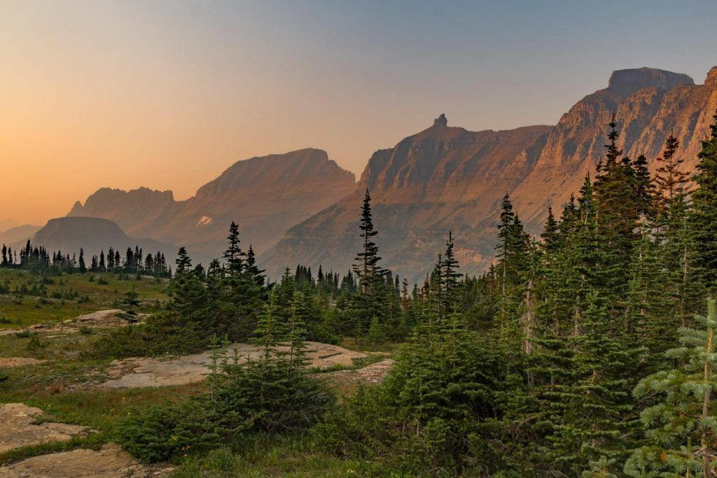 best scenic drives in montana-going to the sun road views