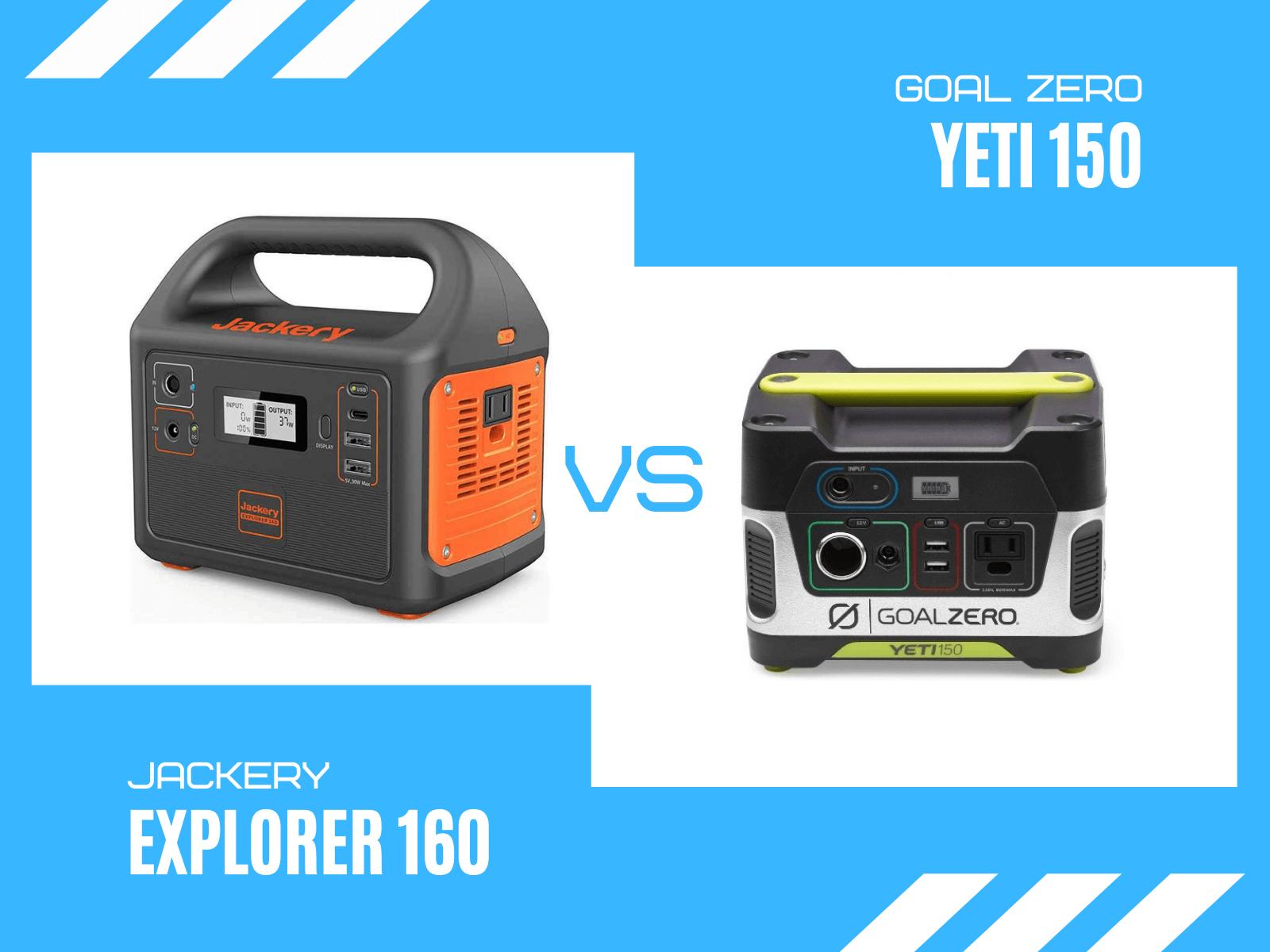 Review: Goal Zero Yeti 150 vs Jackery Explorer 160