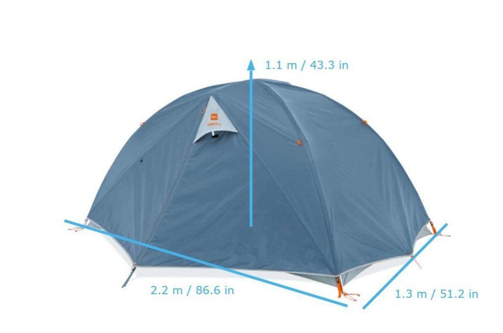 MEC camper 2.0 dimensions