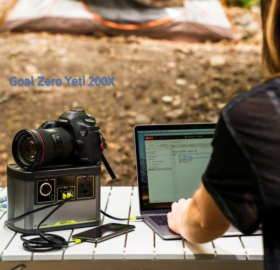 Goal Zero Yeti 200X Review - being used in the outdoors