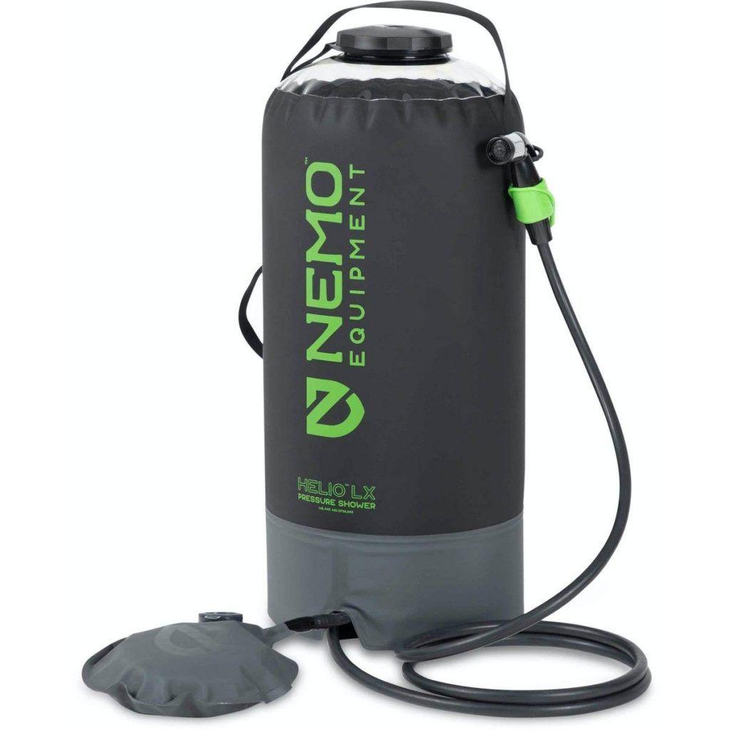 best portable camping showers: NEMO Helio LX Pressure Shower